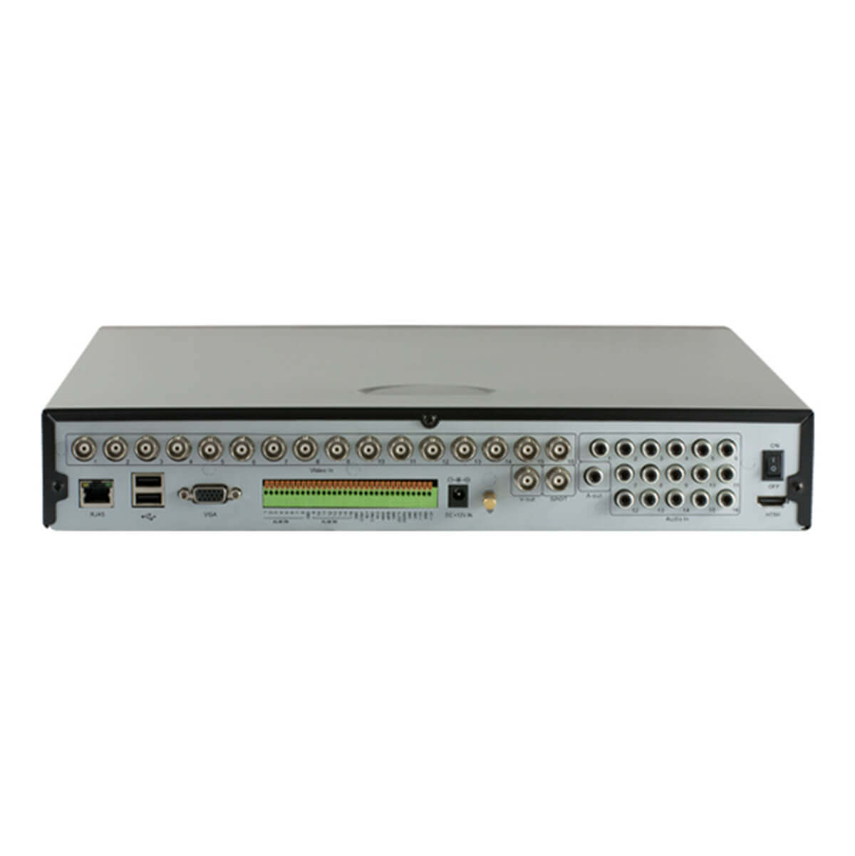 DVR 16 Canales, H264, BNC/VGA/HDMI, Audio 16ch-in / 1ch-out, D1/CIF
