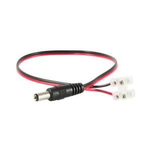 Cable de corriente 12V con conector plug de 2.1mm, para camaras de vigilancia