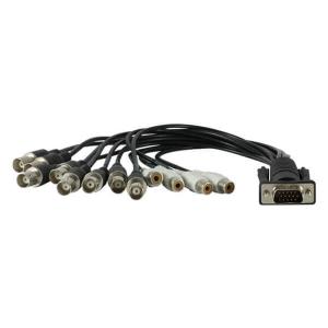 Cable extensor para tarjeta Geovision de 8 camaras, 4 audio, color negro.