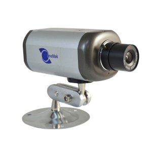 Camara IP tipo box para interiores, 1/3 CMOS, lente de 8mm, color plata
