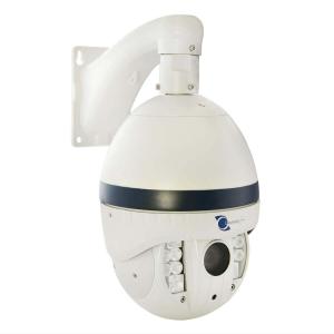 Camara tipo domo PTZ IP, Sensor Sony CCD, 2Mp, 12 LEDs, 100m IR, PoE