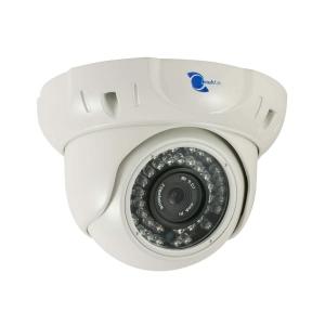 Camara IP tipo domo, 1/2.5 CMOS con sensor dual-core 32bit DSP(TI Davinci DM368)PoE, lente 4mm