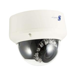 Camara domo IP, Sensor Sony CCD 1/2.8, 2Mp, 12 LEDs, 10m~15m IR, PoE