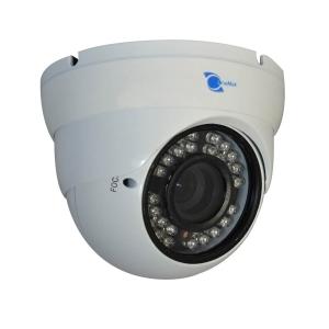 Camara tipo domo, Sensor CMOS 1/3, resolucion 600TVL, 24 LEDs, 30m IR