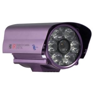 Camara para exteriores tipo bazuca, 1/3 CCD SONY 420TV, lente de 25mm, 12 LEDs, color morado