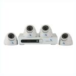 Combo de 4 camaras 1/4 CMOS 700TVL con DVR de 4 canales de grabacion tiempo real