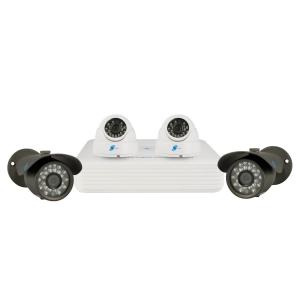 Combo de 4 camaras 1/3 SONY 960H Exview 700TVL con DVR 4 canales
