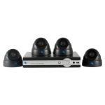 Combo de 4 camaras 1/4 CMOS 600TV con DVR de 4 canales de grabacion tiempo real.