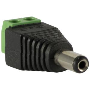 Conector Plug de alimentacion de 2.1mm, macho para 12V DC