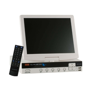 Video grabador digital DVR 4 video/2 audio D1, monitoreo por celular, con pantalla LCD 10.5