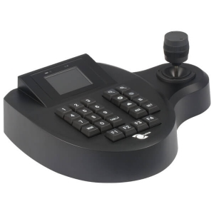 Control joystick de 3 axis para camaras PTZ, soporta 255 camaras, pantalla a color