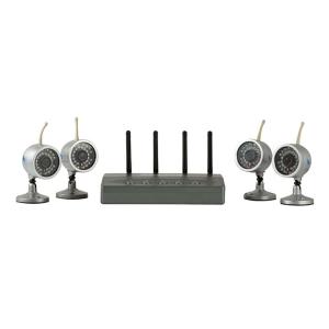 Kit de 4 camaras inalambricas con repceptor, contiene microfono, alcance 50m-100m, 30 LEDS