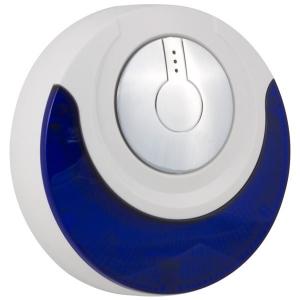 Sirena inalambrica con audio/luz, para interiores/exteriores.